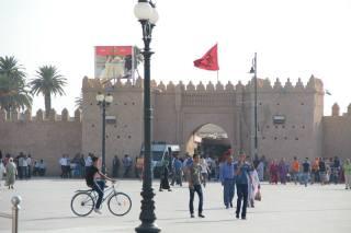 Moroccan Medina (shopping bazaar) in Oujda.