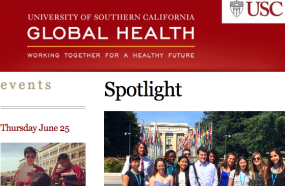 USC Global Health Newsletter