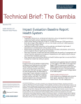 Impact Evaluation Baseline Report: Health System