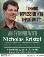 Nicholas Kristof Flyer