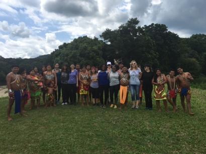 Visiting the Embera Village