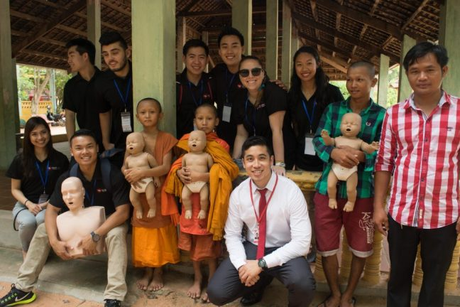 Michael Pham in Cambodia. Photo courtesy The CPR Hero LLC.