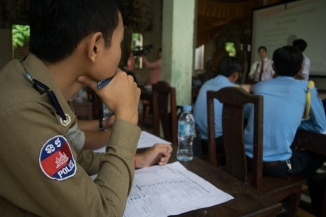 Cambodian Police Officer. Photo courtesy The CPR Hero LLC.
