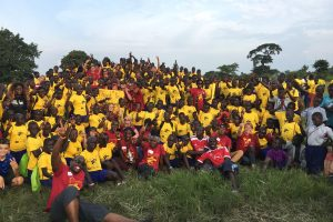 USC students, faculty, staff and alumni collaborated with community organizations and university students to provide public health education and services to more than 1,000 youth in the Uganda's rural Oyam district Aug. 8-12. Photo credit: Heather Wipfli