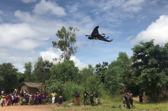 Drone flight in rural Kasungu.